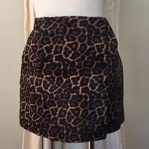 Diane von Furstenberg calf hair mini skirt